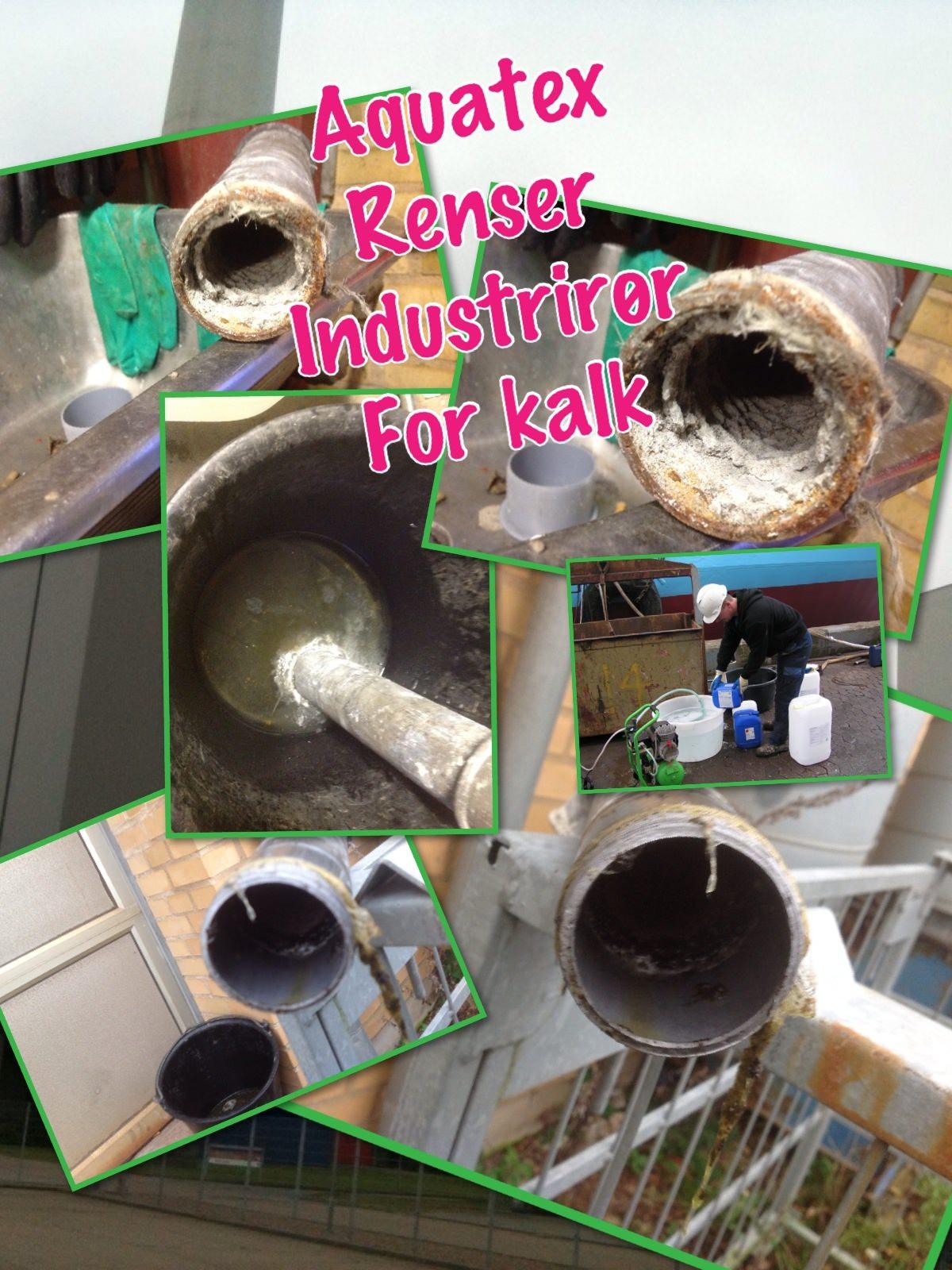 Rensning af rør og ledninger for kalk, rust, okker, fedt, olier
