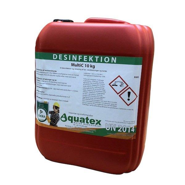 Aquatex MultiC desinfektionsprodukt med fødevaregodkendelse