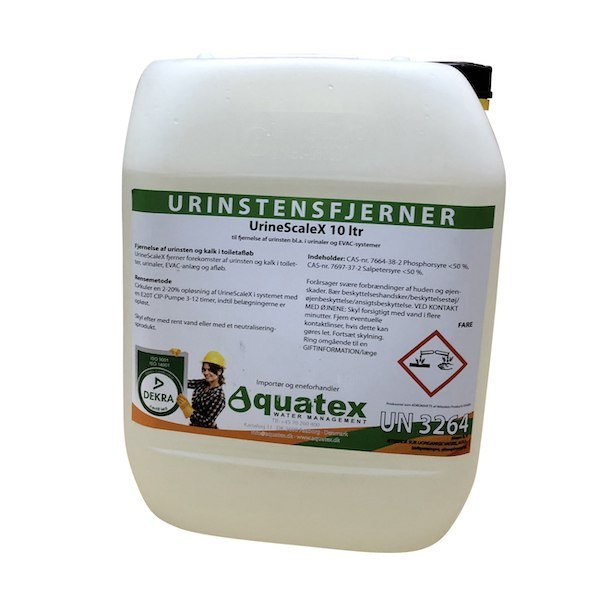 Aquatex UrineScaleX fjerner urinsten i toiletter