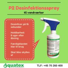 P2 Desinfektionsspray til vandværker