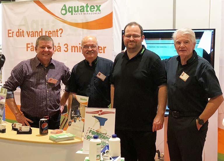 Eksperter i renseløsninger fra Aquatex samlet til messe
