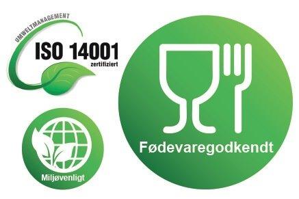 Desinfektionsprodukter godkendt til fødevarer